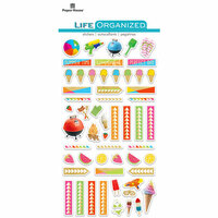 Paper House Productions - Life Organized Collection - Epoxy Stickers - Summer Fun with Foil Accents