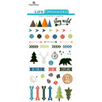 Paper House Productions - Life Organized Collection - Epoxy Stickers - Outdoors with Foil Accents