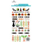 Paper House Productions - Life Organized Collection - Epoxy Stickers - Halloween with Foil Accents