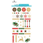 Paper House Productions - Life Organized Collection - Epoxy Stickers - Christmas with Foil Accents