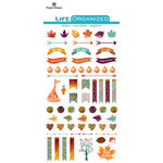 Paper House Productions - Life Organized Collection - Epoxy Stickers - Autumn Woods with Foil Accents