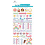 Paper House Productions - Life Organized Collection - Epoxy Stickers - Kawaii with Foil Accents