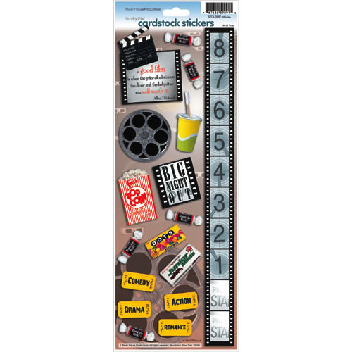 Paper House Productions - Movies Collection - Cardstock Stickers - Movies