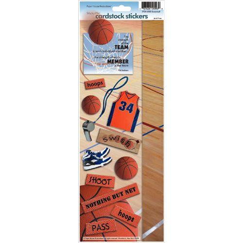 Paper House Productions - Basketball Collection - Cardstock Stickers - Basketball