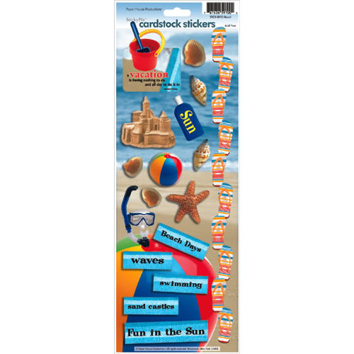 Paper House Productions - Fun Beach Collection - Cardstock Stickers - Fun Beach