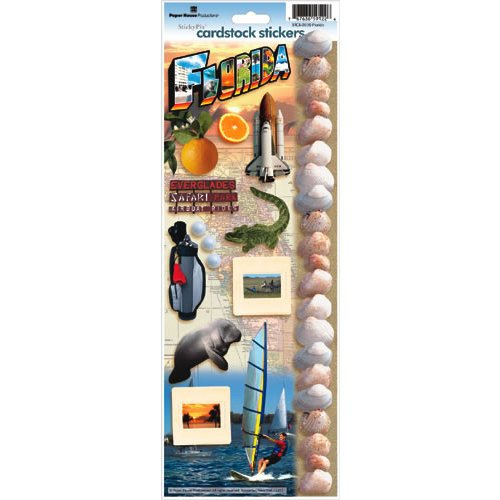Paper House Productions - Florida Collection - Cardstock Stickers - Florida