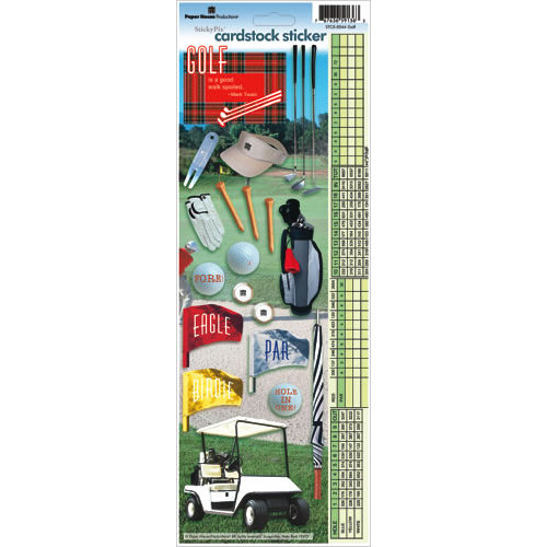 Paper House Productions - Golf Collection - Cardstock Stickers - Golf