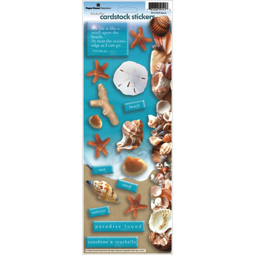 Paper House Productions - Beach Collection - Cardstock Stickers - Beach