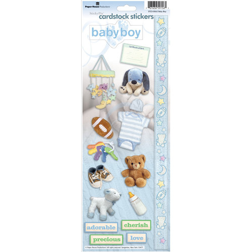 Paper House Productions - Baby Boy Collection - Cardstock Stickers - Baby Boy