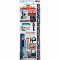 Paper House Productions - Chicago Collection - Cardstock Stickers - Chicago