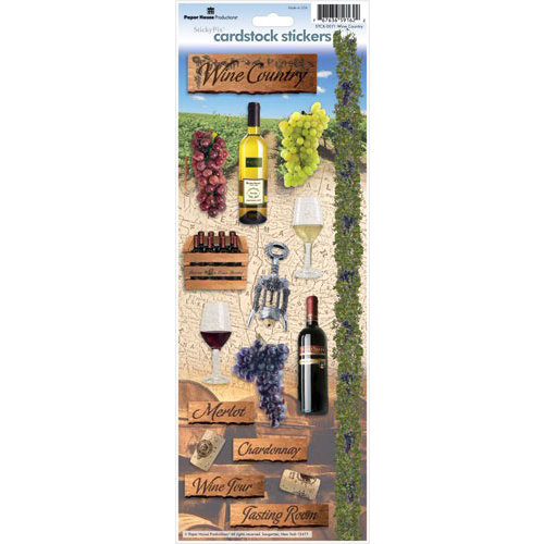 Paper House Productions Wine Country Collection Cardstock Stickers Wine Country