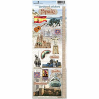 Paper House Productions - Spain Collection - Cardstock Stickers - Spain