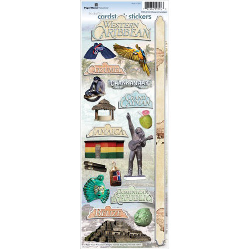 Paper House Productions - West Caribbean Collection - Cardstock Stickers - Western Caribbean