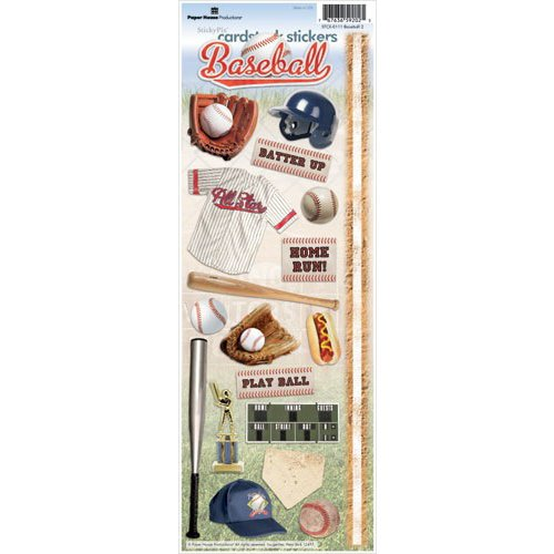 Paper House Productions - Baseball Collection - Cardstock Stickers - Baseball 2