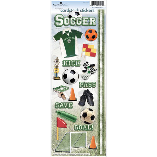 Paper House Productions - Soccer Collection - Cardstock Stickers - Soccer 2