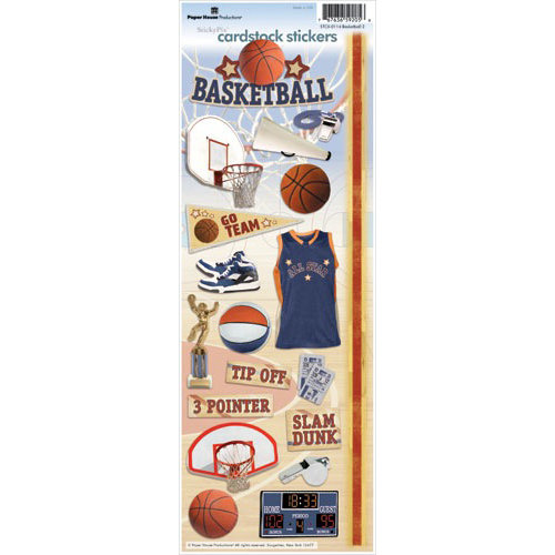 Paper House Productions - Basketball Collection - Cardstock Stickers - Basketball 2