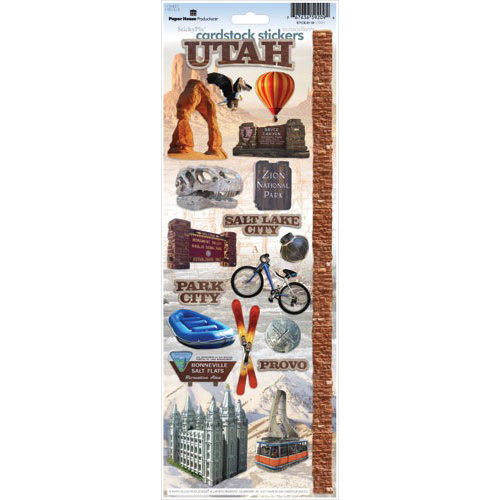 Paper House Productions - Utah Collection - Cardstock Stickers - Utah