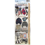 Paper House Productions - Civil War Collection - Cardstock Stickers - Civil War