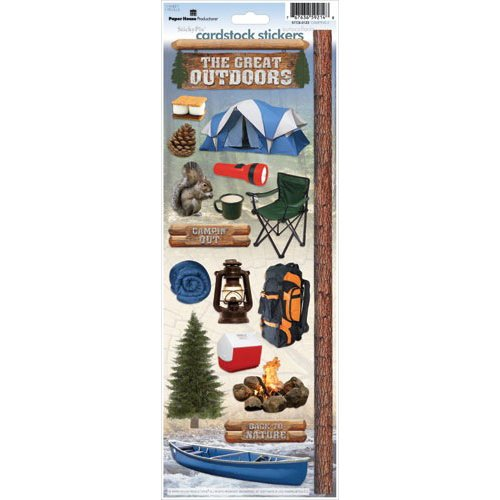 Paper House Productions - Camping Collection - Cardstock Stickers - Camping 2