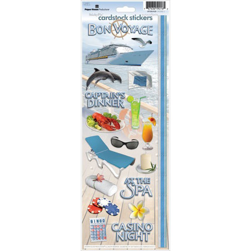 Paper House Productions - Cruise Collection - Cardstock Stickers - Cruise 2