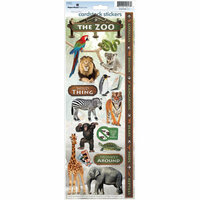 Paper House Productions - Zoo Collection - Cardstock Stickers - Zoo