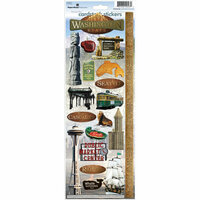 Paper House Productions - Washington Collection - Cardstock Stickers - Washington State