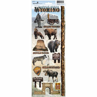 Paper House Productions - Wyoming Collection - Cardstock Stickers - Wyoming