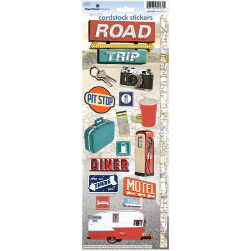 Paper House Productions - Road Trip Collection - Cardstock Stickers - Road Trip
