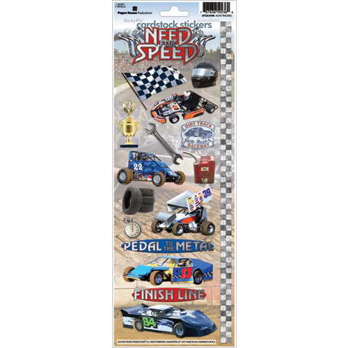 Paper House Productions - Auto Racing Collection - Cardstock Stickers - Need for Speed