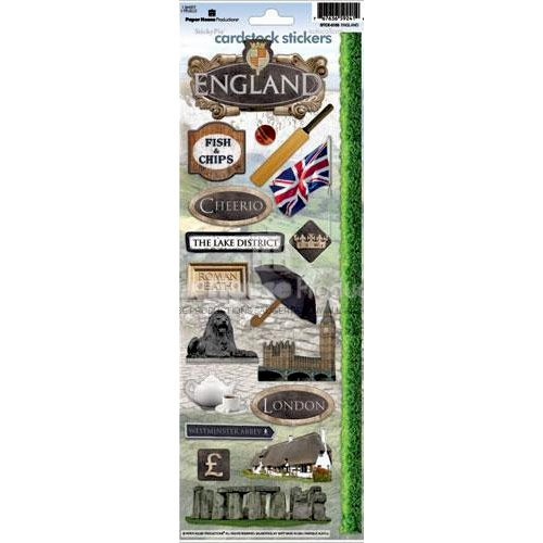Paper House Productions - England Collection - Cardstock Stickers - England