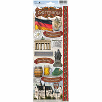 Paper House Productions - Germany Collection - Cardstock Stickers - Germany