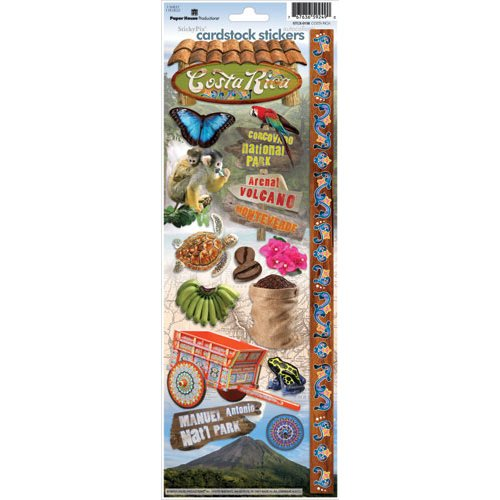 Paper House Productions - Costa Rica Collection - Cardstock Stickers - Costa Rica