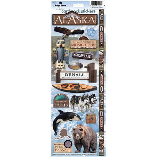 Paper House Productions - Alaska Collection - Cardstock Stickers - Alaska 2