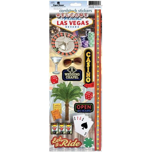 Paper House Productions - Las Vegas Collection - Cardstock Stickers - Las Vegas 2
