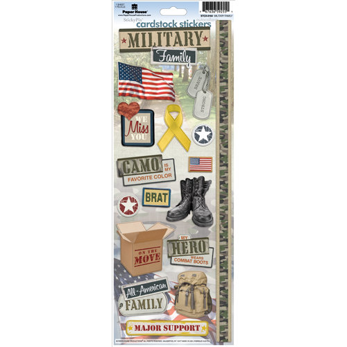 Paper House Productions - Military Life Collection - Cardstock Stickers - Military Family