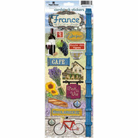 Paper House Productions - France Collection - Cardstock Stickers - France