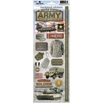 Paper House Productions - Cardstock Stickers- United States Army