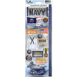 Paper House Productions - Cardstock Stickers- United States Navy
