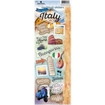 Paper House Productions - Discover Collection - Italy - Cardstock Stickers