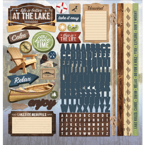 Paper House Productions - Lake Life Collection - 12 x 12 Cardstock Stickers