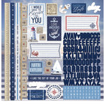 Paper House Productions - Nautical Collection - 12 x 12 Cardstock Stickers