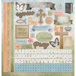 Paper House Productions - Faith Collection - 12 x 12 Cardstock Stickers