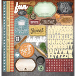 Paper House Productions - Delish Collection - 12 x 12 Cardstock Stickers