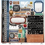 Paper House Productions - New York City Collection - 12 x 12 Cardstock Stickers