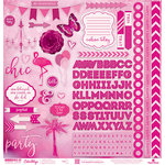 Paper House Productions - Color Ways Collection - Flamingo - 12 x 12 Cardstock Stickers