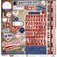 Paper House Productions - All Star Collection - Baseball - 12 x 12 Cardstock Stickers