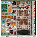 Paper House Productions - All Star Collection - Football - 12 x 12 Cardstock Stickers