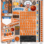 Paper House Productions - All Star Collection - Basketball - 12 x 12 Cardstock Stickers