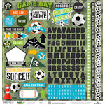 Paper House Productions - All Star Collection - Soccer - 12 x 12 Cardstock Stickers
