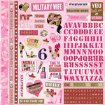 Paper House Productions - Home Front Girl Collection - 12 x 12 Cardstock Stickers